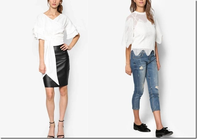 10 White Romantic Blouse Styles To Party In And Ooze Feminine Elegance