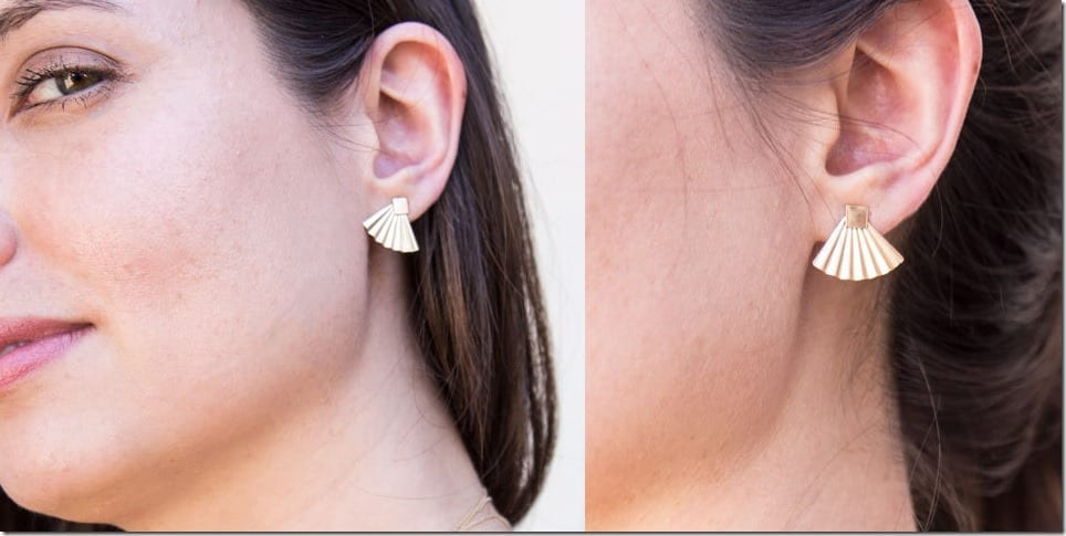 dainty-fan-ear-jacket-stud-earrings
