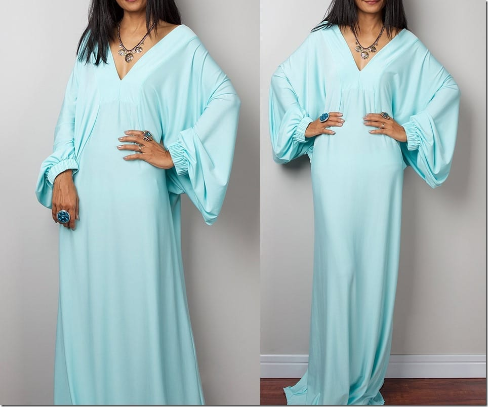 elegant-kaftan-style-mint-dress