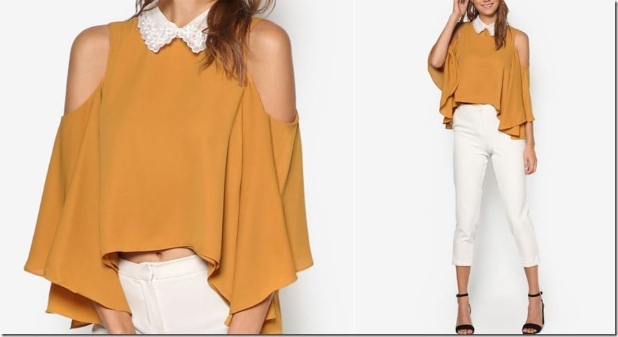 embellished-collar-mustard-layered-top