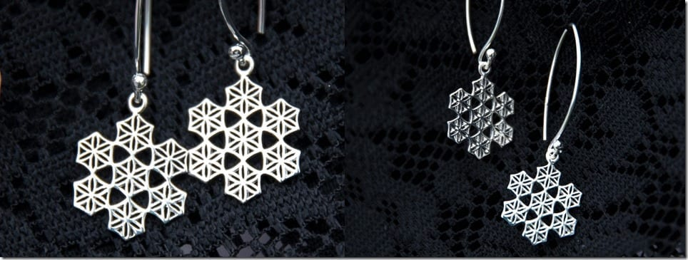geometric-snowflake-dangle-earrings