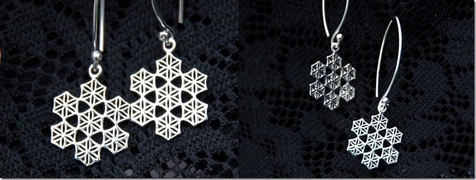 geometric-snowflake-dangle-earrings