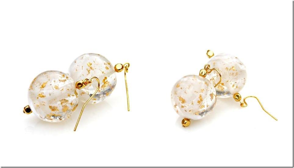 gold-flake-resin-orb-earrings