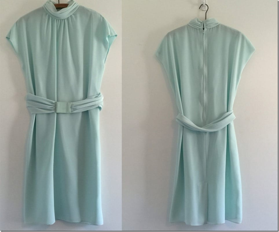 high-neck-belted-80s-mint-chiffon-dress