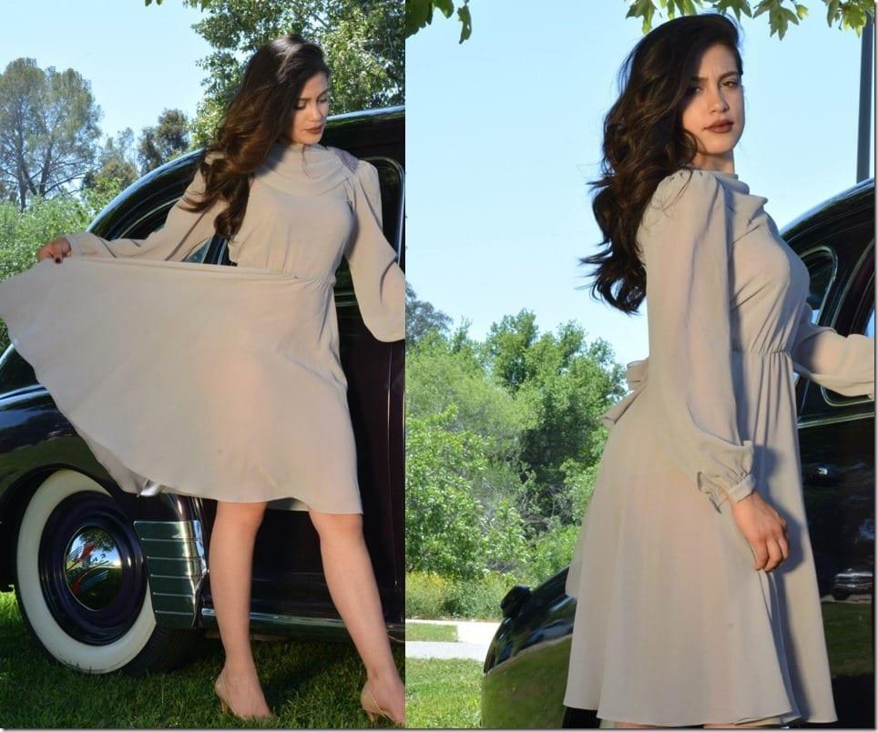 high-neck-vintage-grey-party-dress