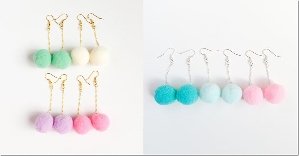 kawaii-cotton-candy-pompom-earrings