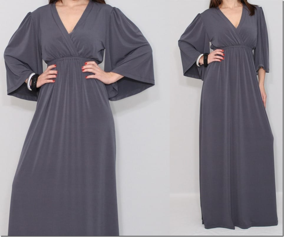 long-kimono-style-v-neck-grey-dress