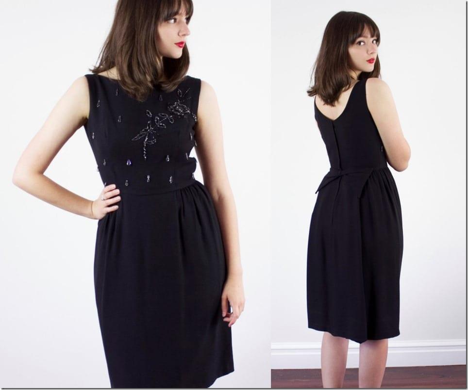low-back-50s-beaded-black-dress