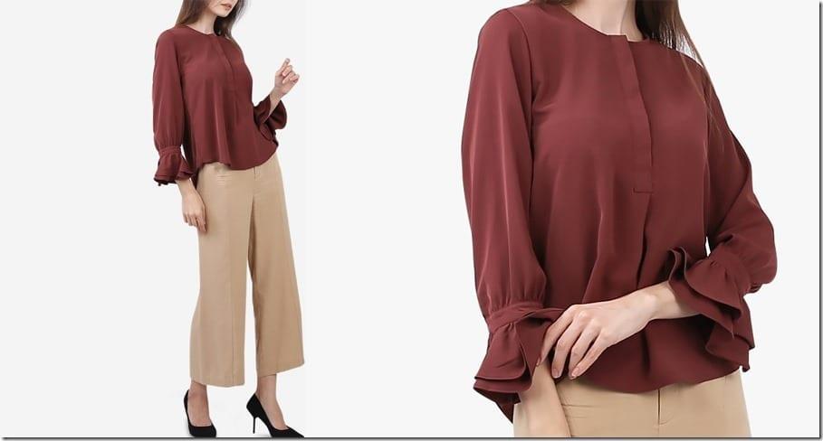 maroon-puff-sleeve-blouse