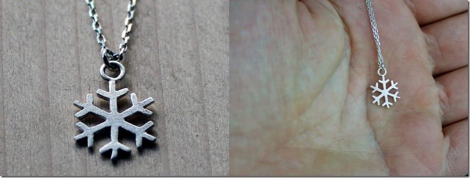 matte-silver-snowflake-pendant-necklace