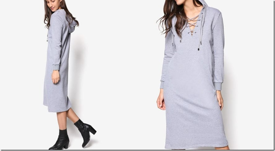 melange-grey-hoodie-midi-dress