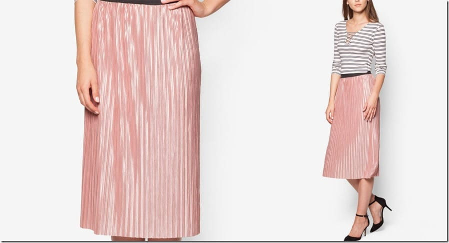pink-pleated-satin-midi-skirt