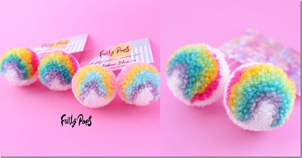 rainbow-pom-pom-earrings