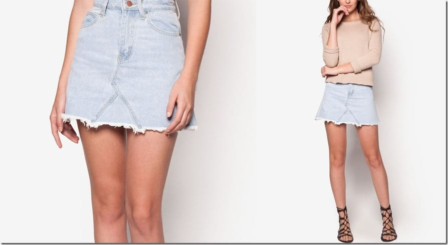 raw-edge-denim-mini-skirt