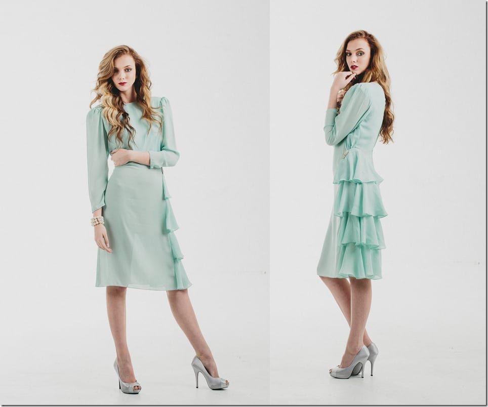 Invigorate Your Christmas Party Look In These Fresh Mint Green Dresses