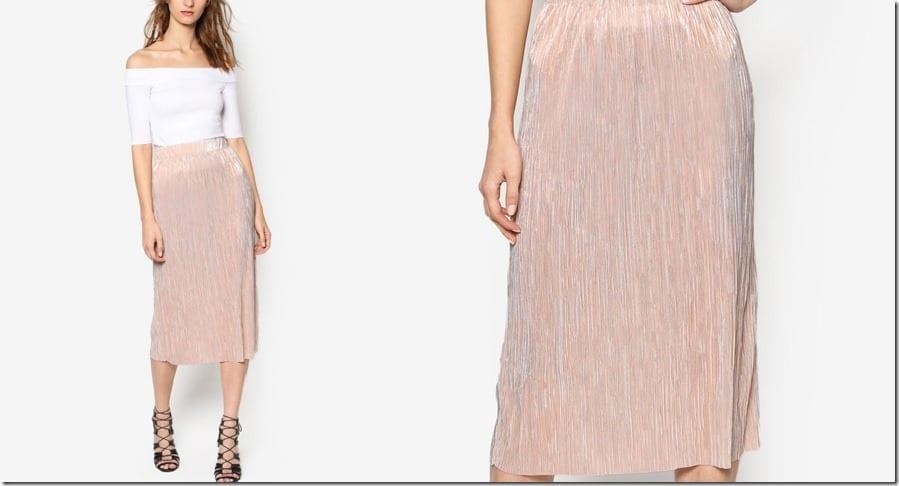 rose-gold-pleated-pencil-midi-skirt