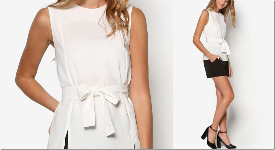 sleeveless-slit-bow-cinch-top