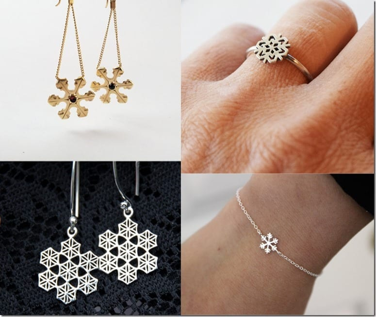 10 Snowflake Jewelry Ideas To Complete Your Christmas 2016 Party Wardrobe