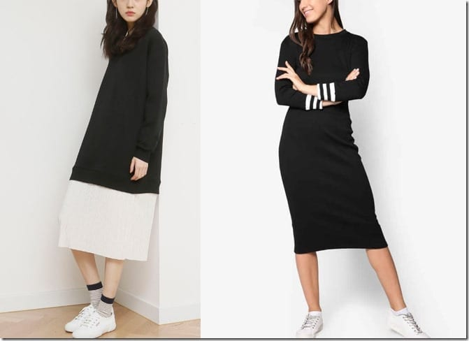 Express Your Love For Athleisure In These Sporty Minimalist Midi Dresses