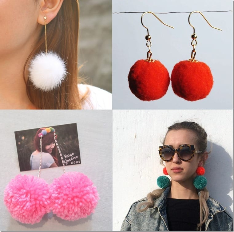 Treat Your Earlobes Like A Christmas Tree By Wearing Pom Pom Earrings