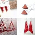 Fashionista NOW: 10 Festive RED Triangle Earrings For Christmas 2016