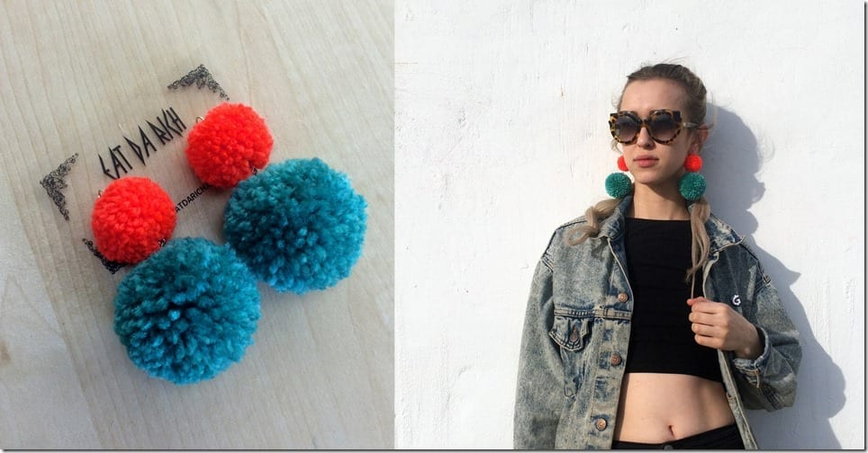 two-tone-double-pom-pom-earrings