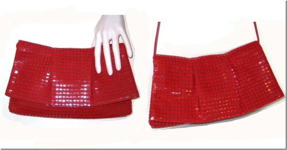 vintage-60s-pleated-red-mesh-clutch