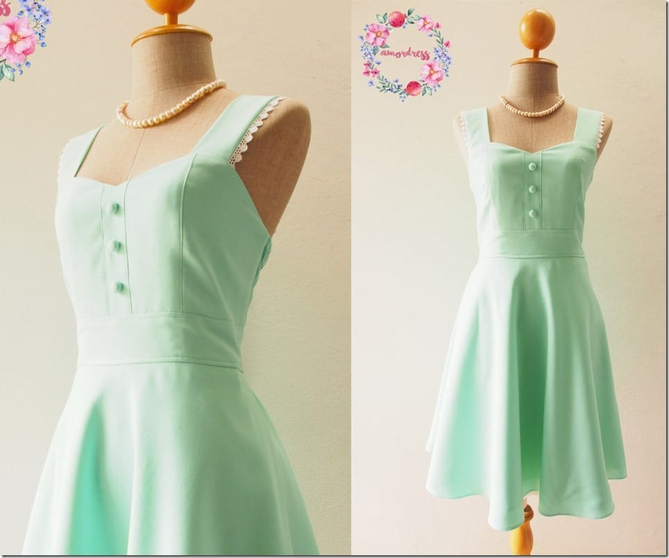 vintage-inspired-mint-green-swing-dress