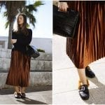 Fashionista NOW: 10 Chic Ways To Wear Shiny Metallic Midi Pleated Skirts