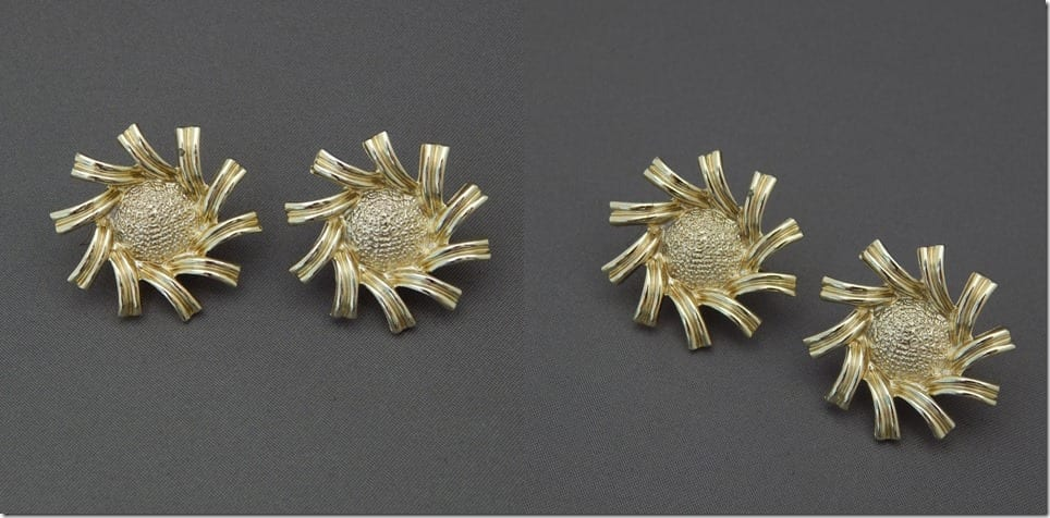 80s-vintage-sunflower-earrings