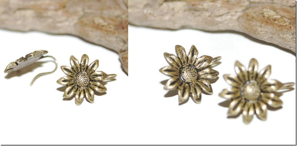 90s-vintage-antique-sunflower-earrings