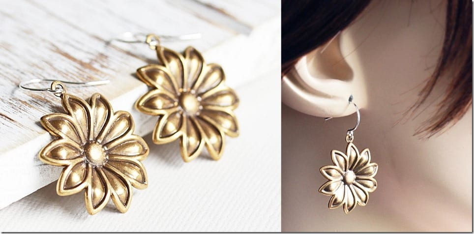 antique-gold-dangle-sunflower-earrings