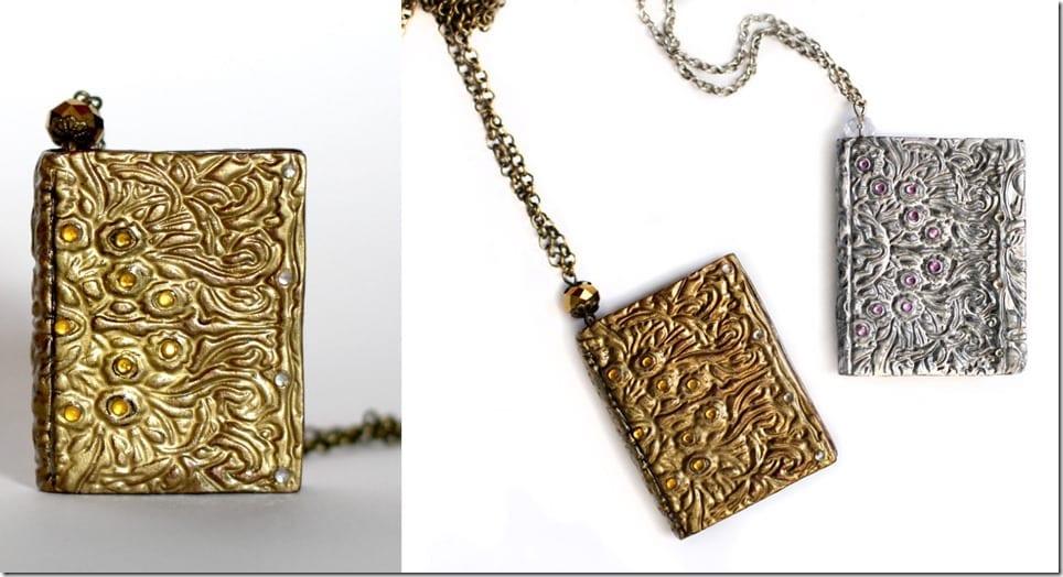 antique-rhinestone-book-charm-necklace