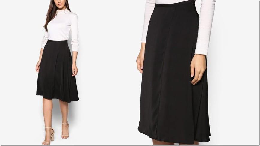 black-circular-midi-skirt