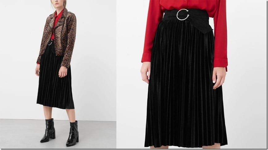 black-pleated-velvet-skirt