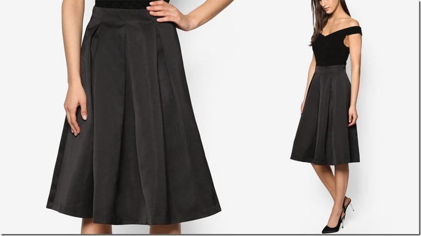 black-satin-midi-skirt