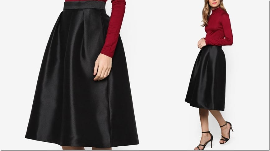 black-twill-satin-full-skirt