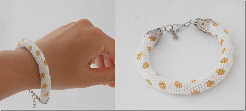 gold-white-bead-crochet-rope-bracelet
