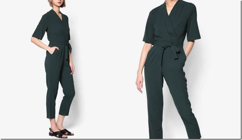 green-wrap-style-short-sleeve-jumpsuit