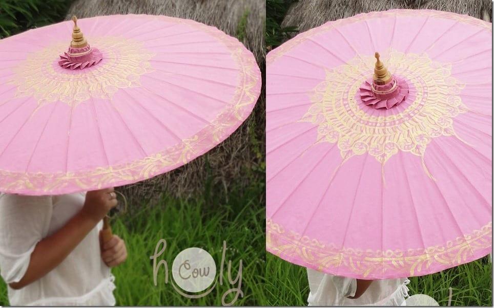hand-painted-pink-waterproof-parasol-umbrella