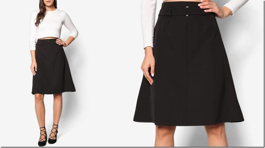 high-waist-black-midi-skirt