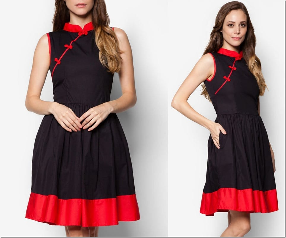 little-black-red-mod-cheongsam-dress