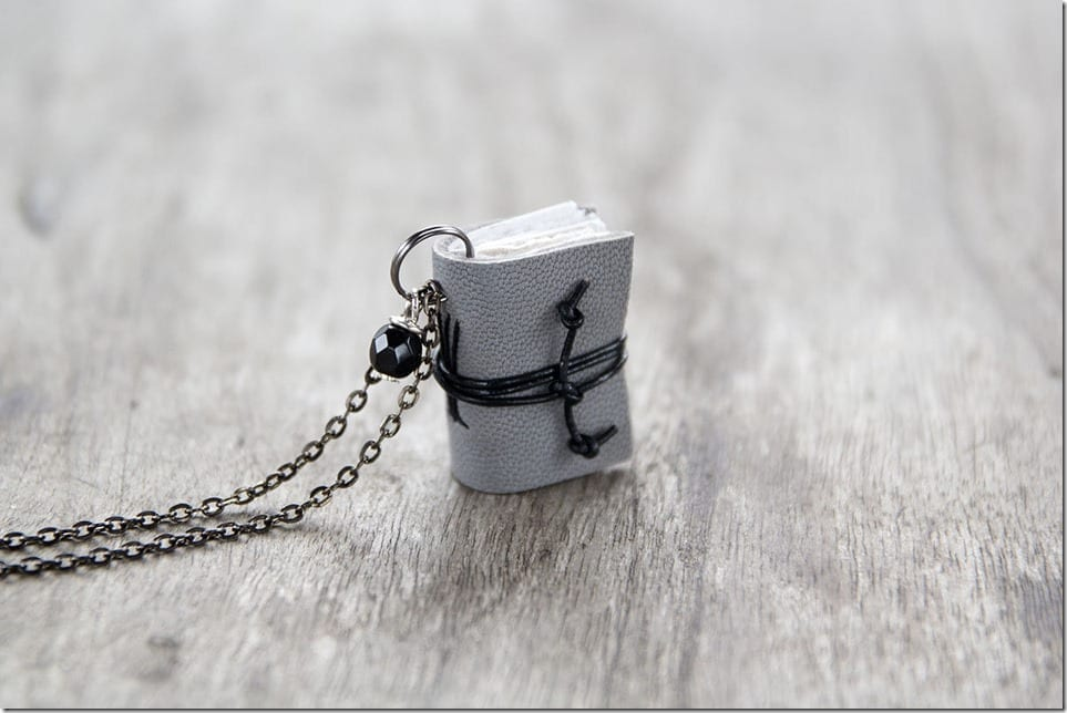 10 Mini Book Charm Necklace Styles For The Bookworms