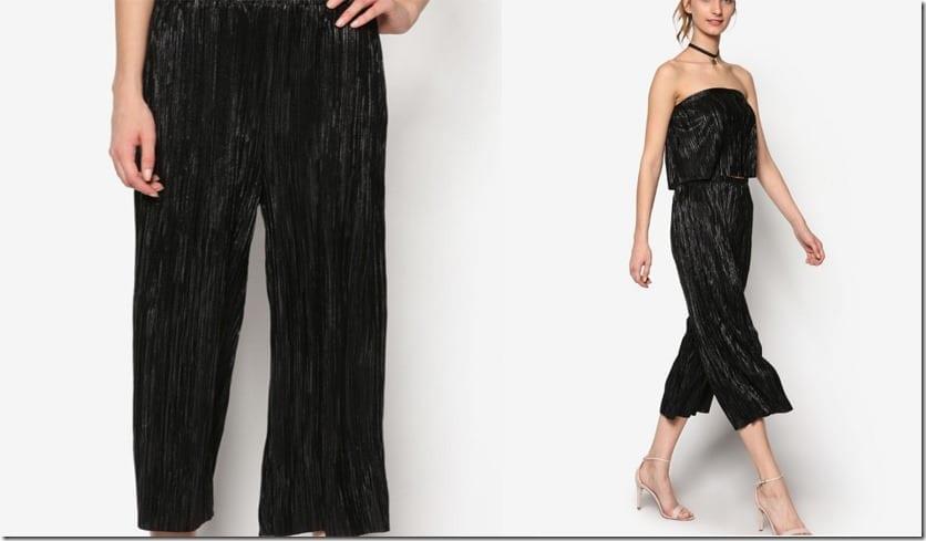 sassy-black-pleated-culottes