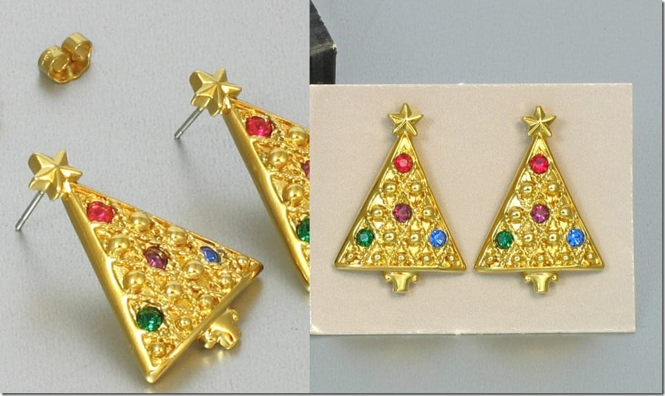 vintage-90s-christmas-tree-earrings