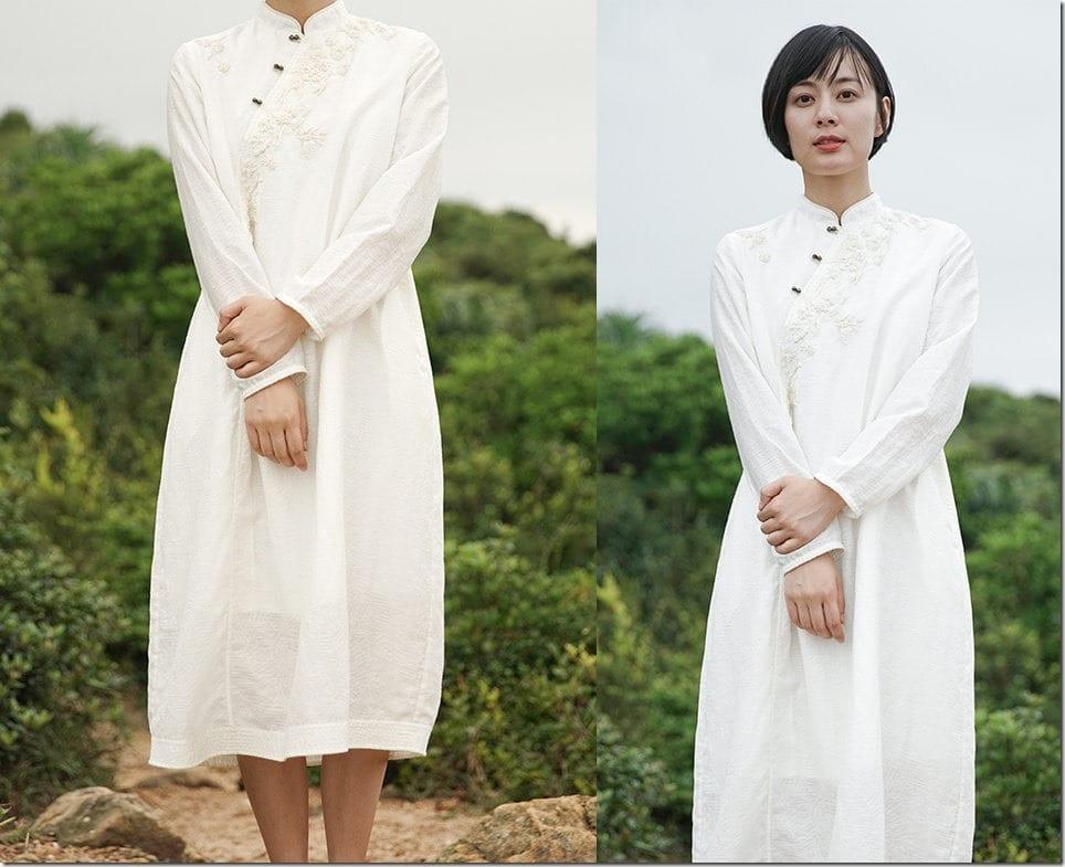 white-embroidered-jacquard-qipao-dress