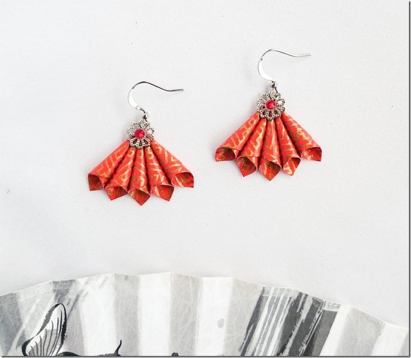 7 Auspicious RED Theme Fan Earrings To Wear For Chinese Lunar New Year 2017