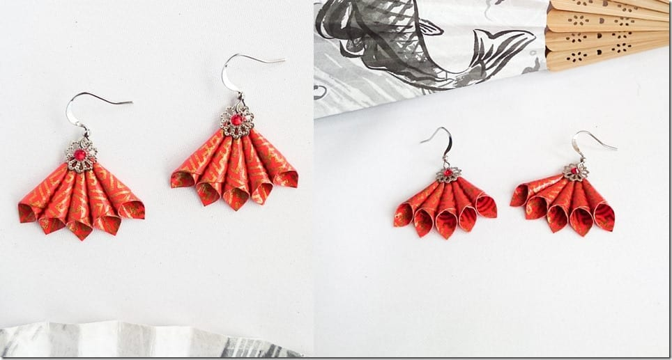 chinese-red-statement-fan-earrings