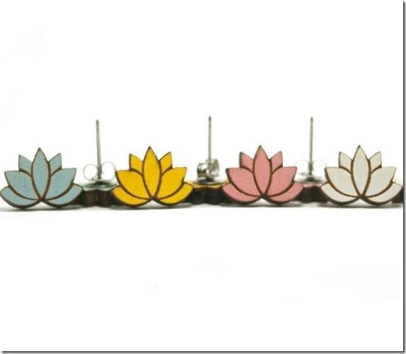 colored-laser-cut-lotus-wood-earrings
