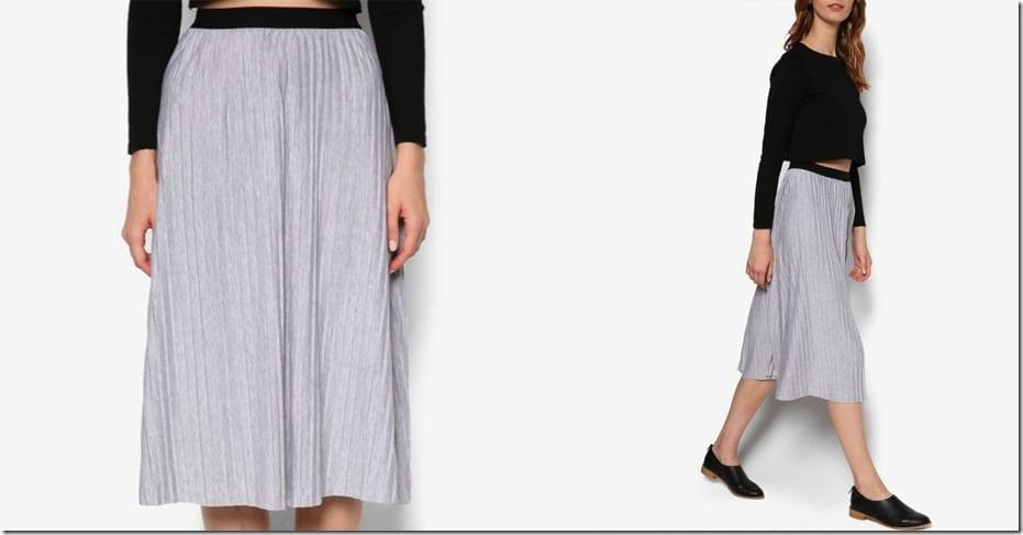 contrast-waist-grey-midi-skirt